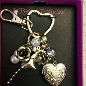 Betsy Johnson NWT Locket Charm and Keychain